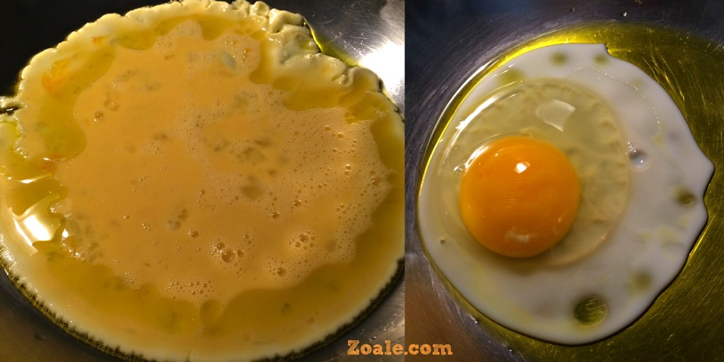 use stainless to cook your eggs