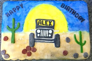 Jeep Birthday Cake