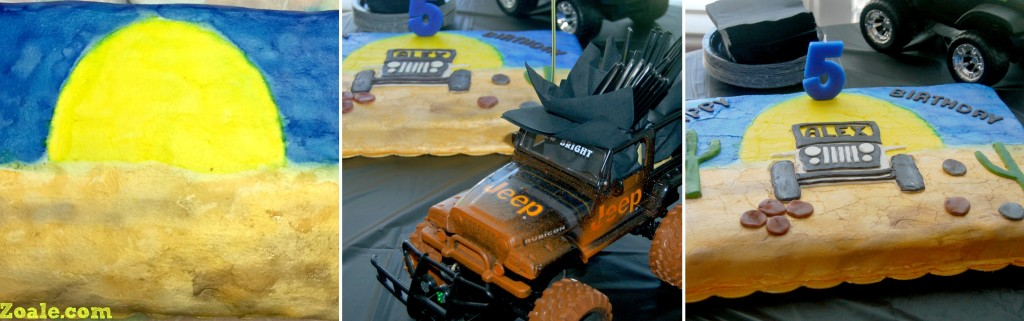 jeep cake collage