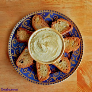 Roasted Garlic and Shallot Hummus