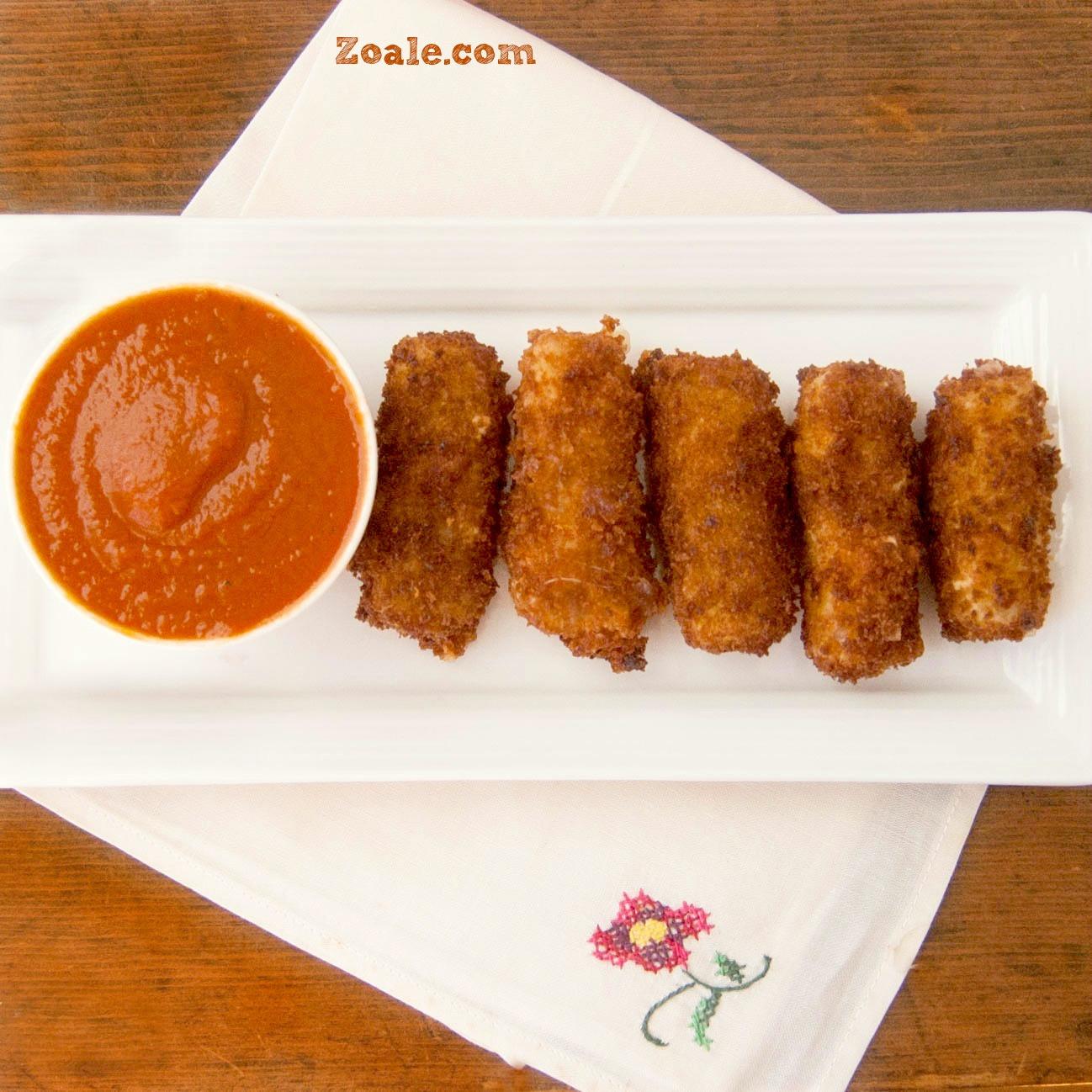 Crispy Mozzarella Cheese Sticks