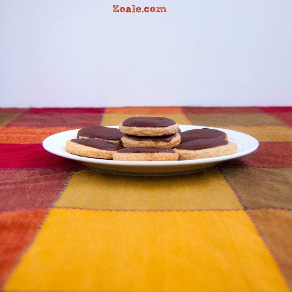Chocolate Orange Frosted Cookies