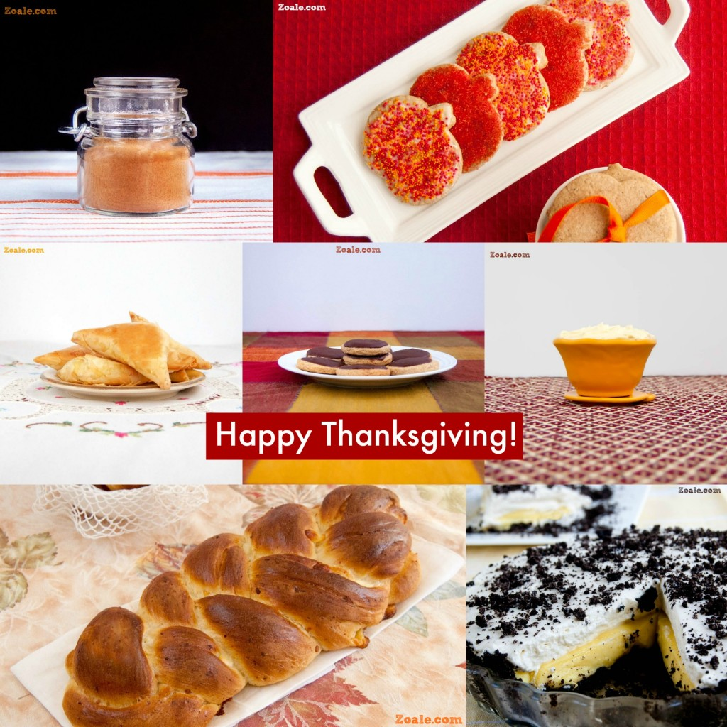 thanksgiving menu collage