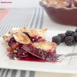 Blackberry Honey Lemon Pie