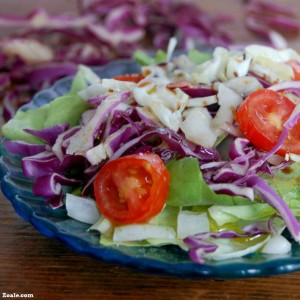 cabbage with salad