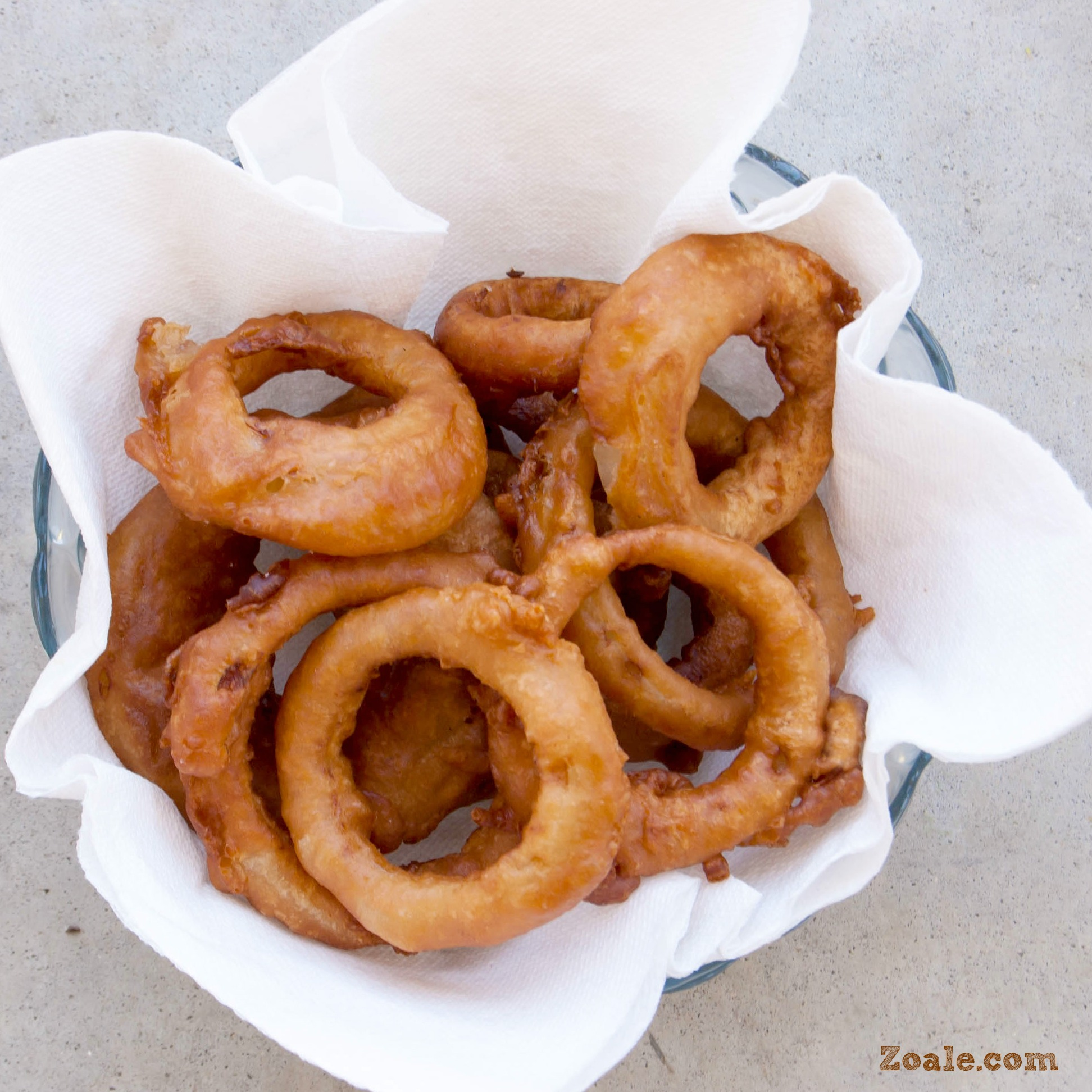Black and Tan Beer Battered Onion Rings