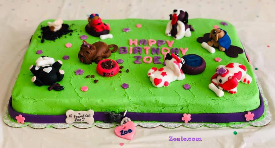 Fantastic Puppy Birthday Cake Zoale Funny Birthday Cards Online Alyptdamsfinfo